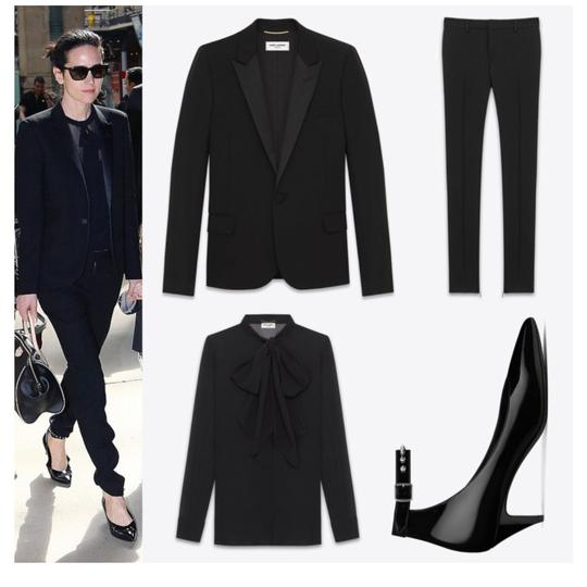 Saint Laurent Pointed Toe Pointed Toe Flats Flats Black Patent Leather Pumps Image 4