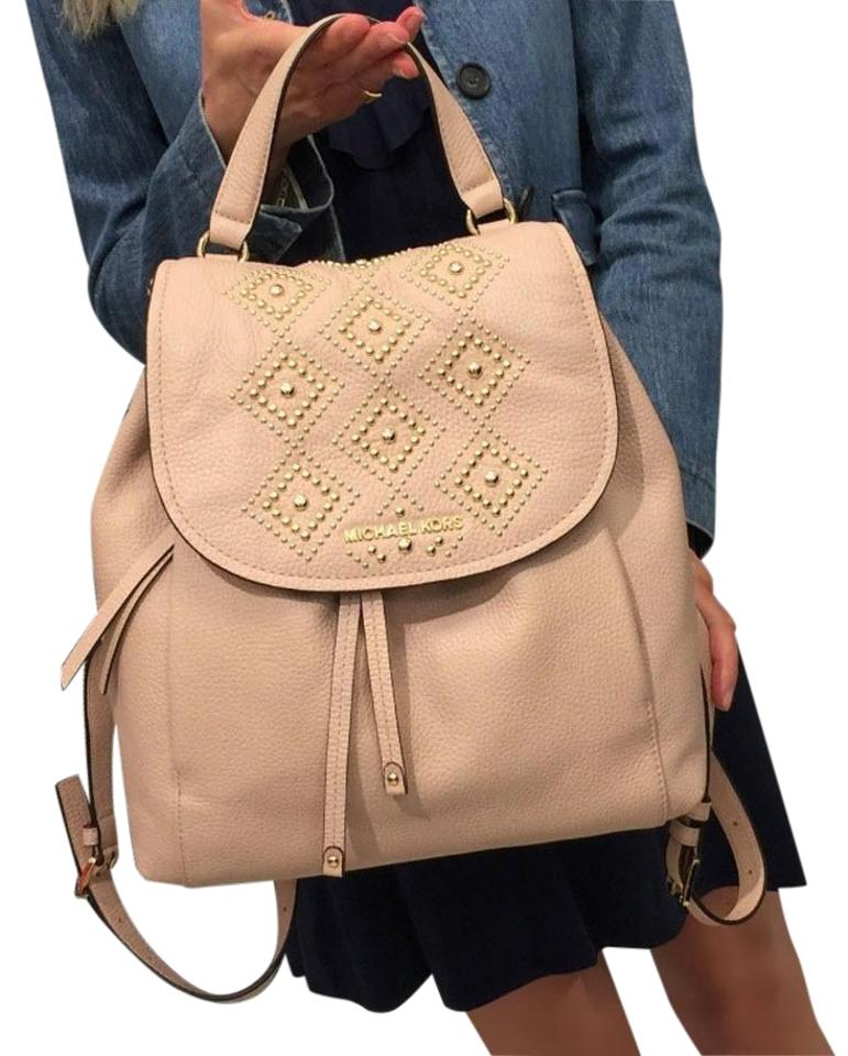 6bd9008f4563 Michael Kors Riley Large Stud Ballet Pink Leather Backpack - Tradesy