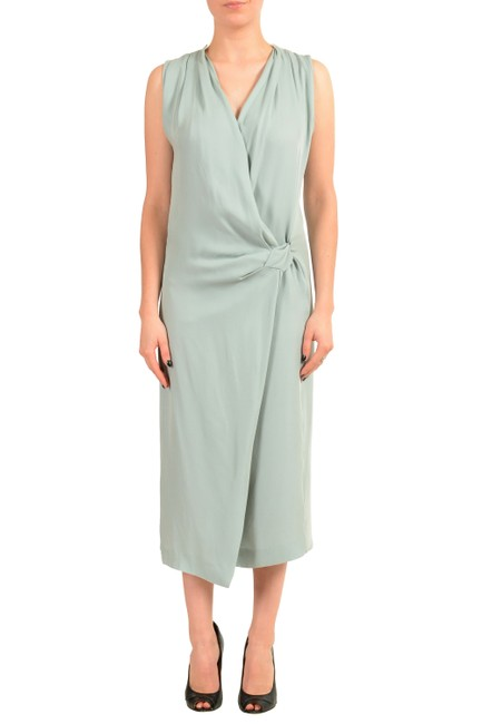 Item - Aqua Green V-11433 Mid-length Casual Maxi Dress Size 4 (S)