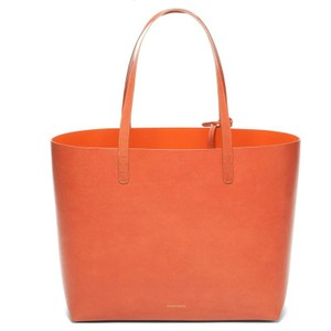 Mansur Gavriel Leather Natural Brown Tote in Brandy
