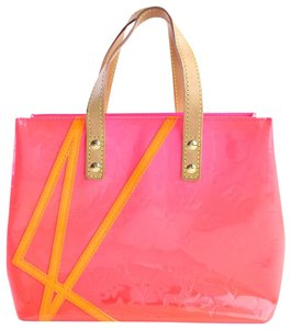 Louis Vuitton Leade Lead Read Columbus Tote in Neon Pink