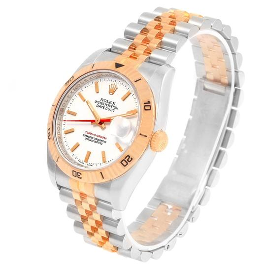 Rolex Rolex Turnograph Datejust Steel Rose Gold Watch 116261 Box Papers Image 3