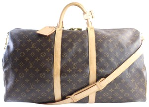 84b6f027cb5 Louis Vuitton Duffle Bandouliere Keepall With Strap Speedy Bandouliere Brown  Travel Bag