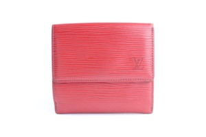 Louis Vuitton Red Epi Compact Wallet 38LR0627