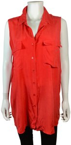 Equipment Button Down Shirt Red