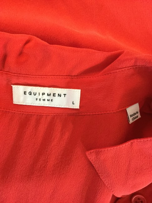 Equipment Button Down Shirt Red Image 6