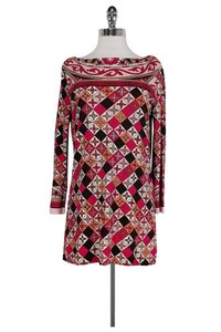 Tory Burch Abstract Print Boat Neck Tunic