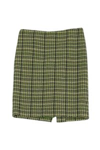 Theory Tweed Skirt Green