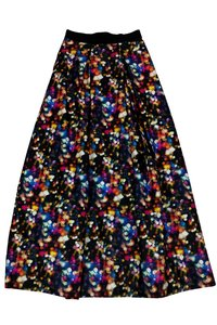 MILLY Multicolor Printed Maxi Skirt