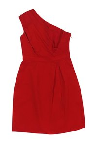 Shoshanna short dress red Silk One Shoulder on Tradesy