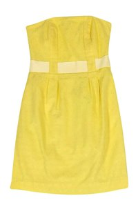 Lilly Pulitzer short dress yellow Strapless Textured on Tradesy