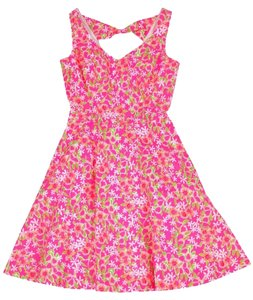 Lilly Pulitzer short dress Pink Hot Floral on Tradesy