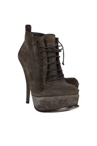 Elizabeth and James Taupe Suede Lace Boots