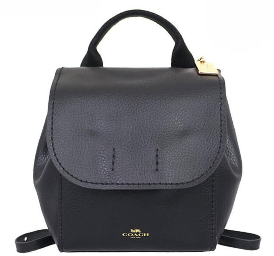 Coach Derby Black Leather Backpack - Tradesy 6d14eb031fd11