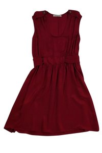 Geren Ford short dress Silk Maroon With Belted Waist on Tradesy