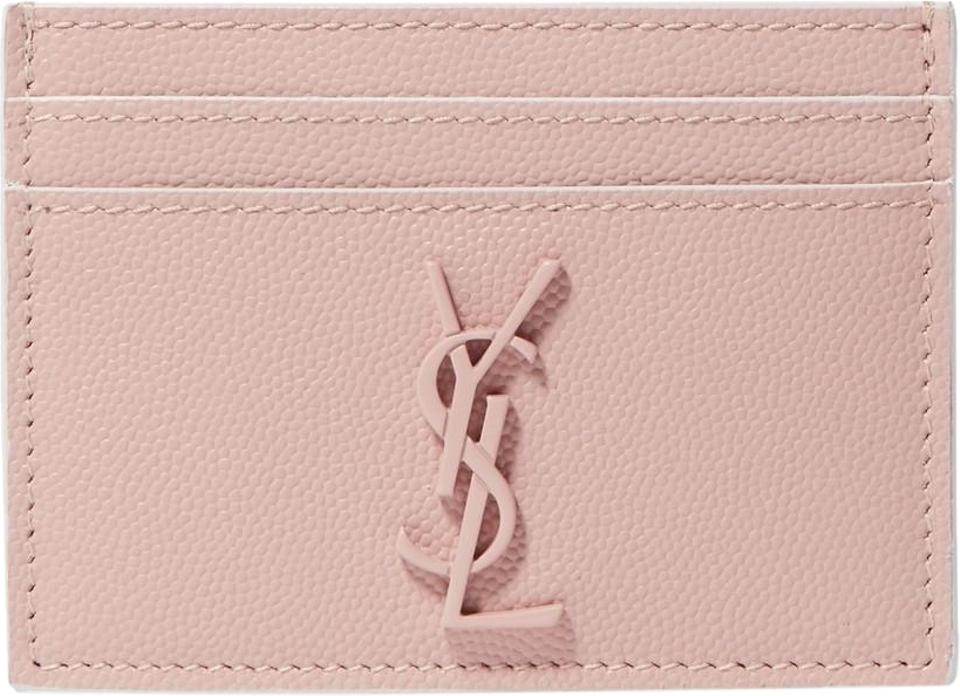 0bc850f7434 Saint Laurent Pink Ysl Monogram Card Holder Card Case Wallet - Tradesy