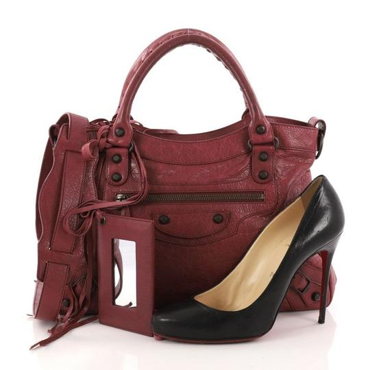 Balenciaga Leather Satchel in wine Image 1