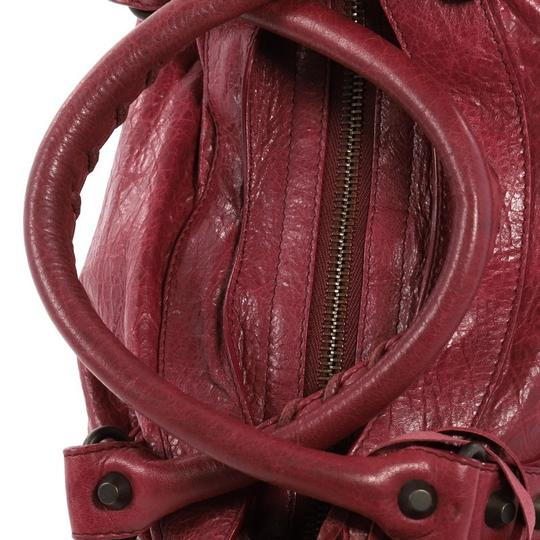 Balenciaga Leather Satchel in wine Image 6