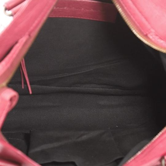Balenciaga Leather Satchel in wine Image 7