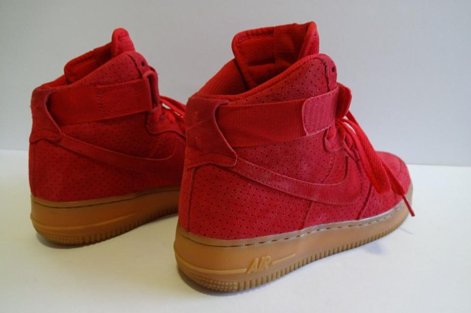 65c291588ca Nike Red Women s Air Force 1 High Suede 2-3 Times Sneakers Size US 7.5  Regular (M