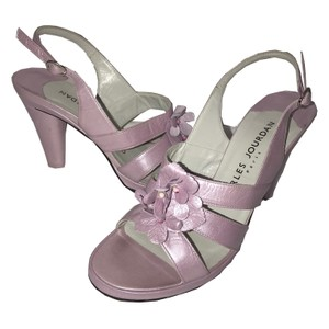 Charles Jourdan Leather Slingback Lavender Pumps