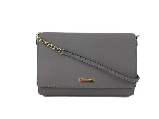 New York Tilden Place Alek In Cliff Gray Leather Cross Body Bag by Kate Spade