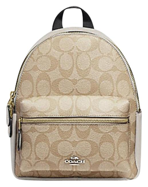Item - Charlie Mini In Signature 29719 38263 White Leather Backpack