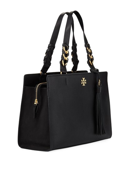 Tory Burch Leather Gold Hardware Shoulder Crossbody Satchel in Black Image 2