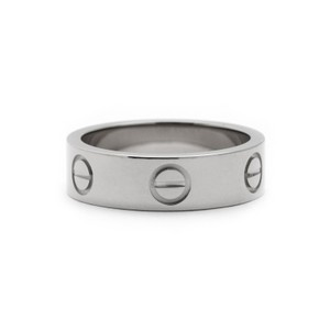 Cartier White Gold Love Ring From Love Collection EU 52 (20414)