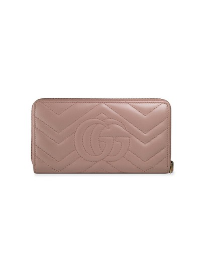 Gucci NEW Gucci Marmont Zip Around Wallet Soft Rose Image 1