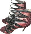 Brian Atwood Oxblood Burngundy Sandals