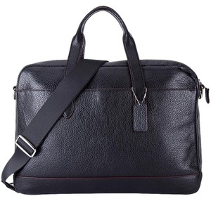 Coach Business Business Brief Pebbled Leather Briefcase Laptop Bag