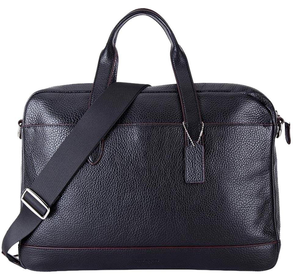 Coach Business Brief Pebbled Leather Briefcase Laptop Bag