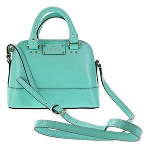 Kate Spade Rachelle Leather Handbag Satchel in Fresh Air