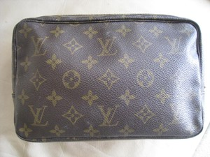Louis Vuitton Louis Vuitton Trousse Unisex Cosmestic Makeup Toiletry Travel Handbag Accessory Pochette Dark Brown Tote Brown Monogram Clutch