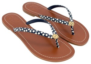 Tory Burch Navy/White Sandals
