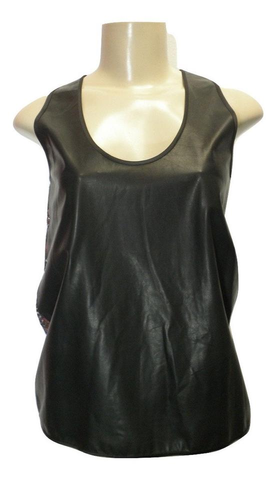 02923470380e9 Leather Tank - Size 6 - Donated From The Designer Sal Black Top ...
