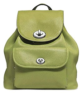 13a2cee48 Added to Shopping Bag. Coach Backpack. Coach Mini Turnlock Rucksack Citrine Leather  Backpack