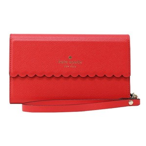 Kate Spade NEW KATE SPADE NEW YORK RED SCALLOPED PHONE CASE WRISTLET NWT