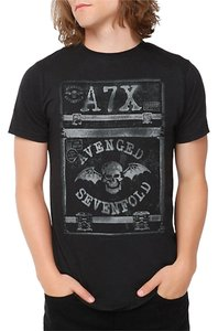 Hot Topic Avenged Sevenfold Comfortable Casual Bands Shull Skeleton Cheap T Shirt Black