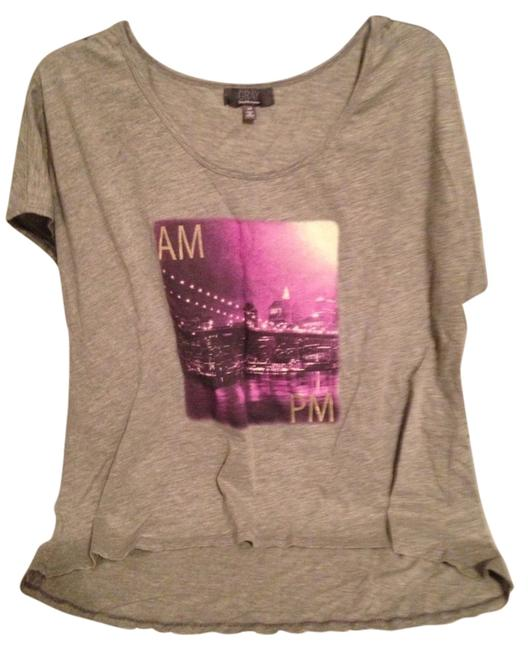 Item - Gray Ave with Tags T-shirt with Pretty Pic Of Nyc Front Very Pretty.retail Tee Shirt Size 12 (L)