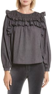 La Vie Rebecca Taylor Top Washed Black