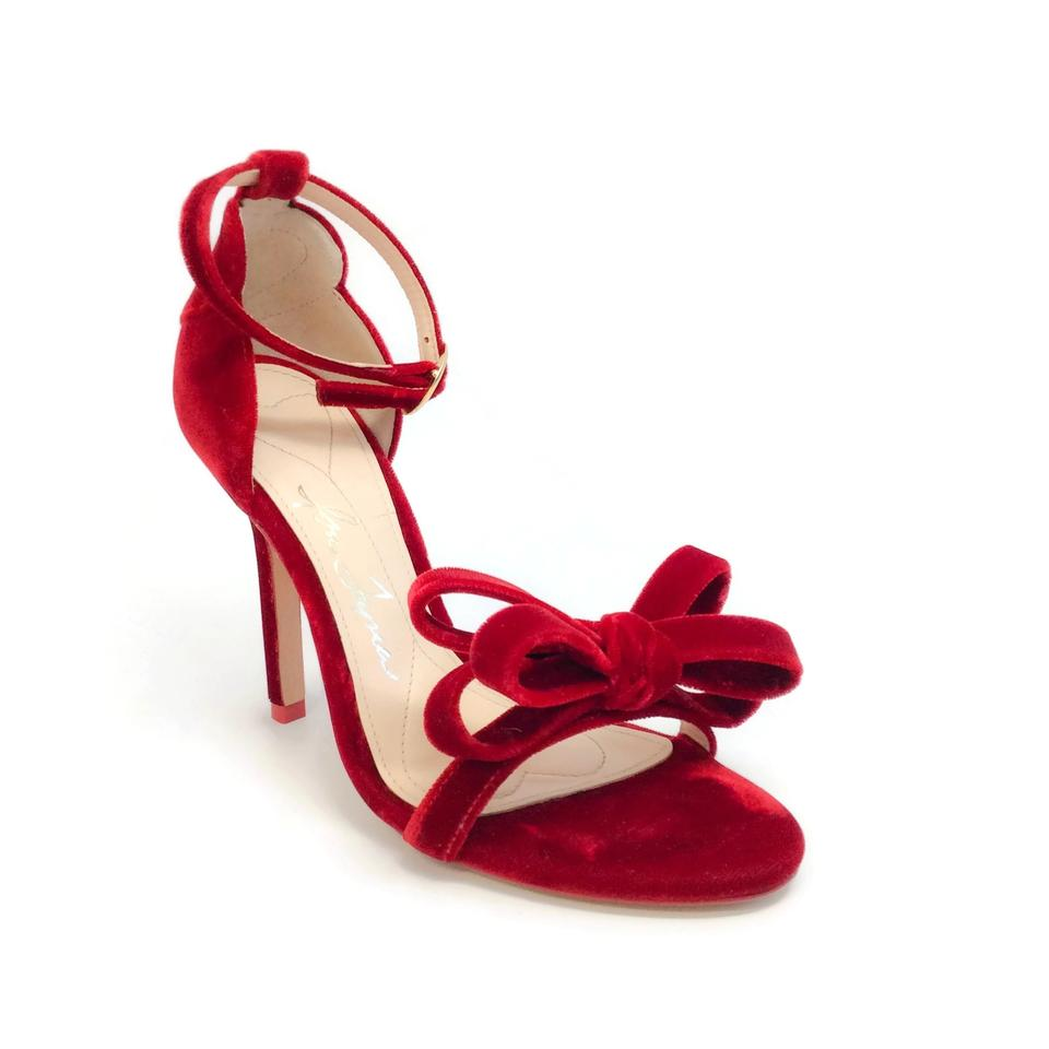 Isa Tapia Red Bow Shelby Bow Red Accented Sandals 527863