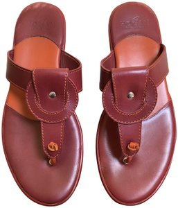 Hogan Leather Red Sandals