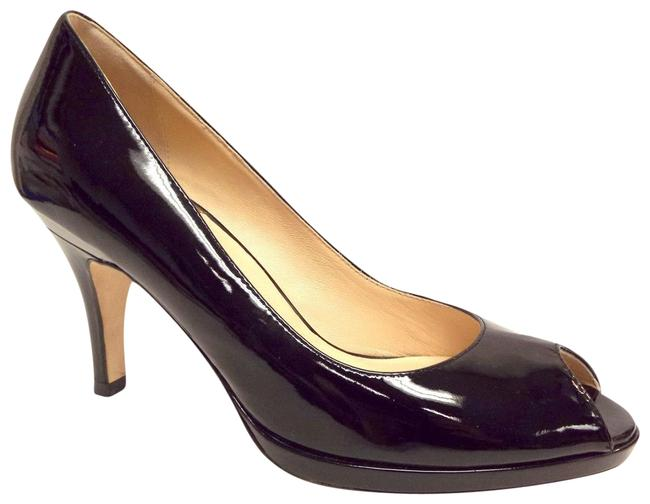 Cole Haan Black Nike Air Open Toe Platform Heel Pumps Size US 7 Regular (M, B) Cole Haan Black Nike Air Open Toe Platform Heel Pumps Size US 7 Regular (M, B) Image 1
