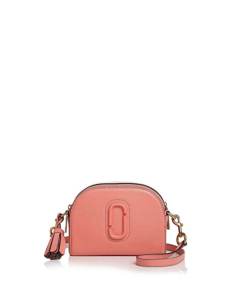 fcb0f829844f Marc by Marc Jacobs Shutter Small Coral Gold Leather Cross Body Bag ...