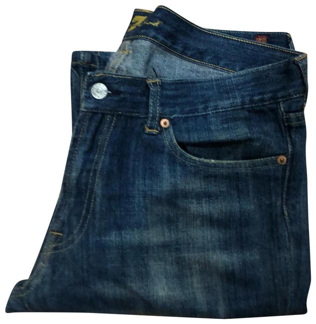 Item - Denim Dark Rinse Straight Leg Jeans Size 12 (L, 32, 33)