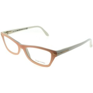 40a3246a43f2 Tom Ford FT5265-055 Cat Eyes Womens Light Pink Frame Clear Lens 53mm  Eyeglasses