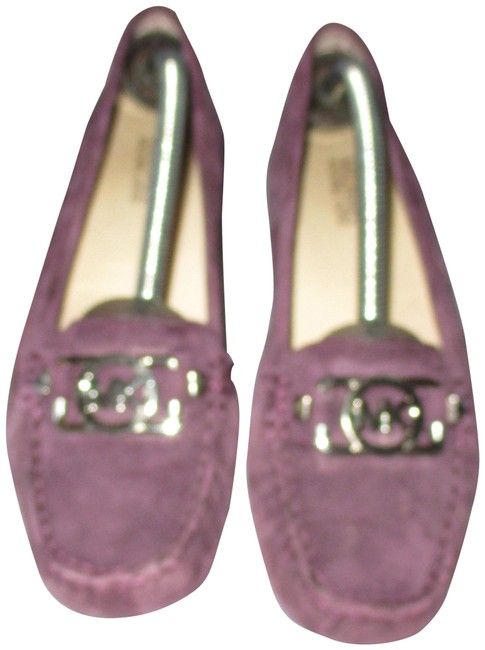 Item - Purple Loafers (Silver Tone) Flats Size US 7 Regular (M, B)