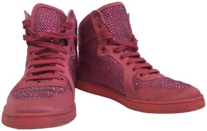 Gucci Coda Satin Crystal Sneakers Pink Athletic
